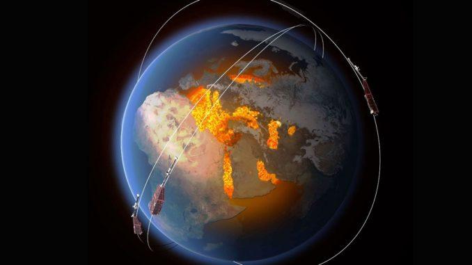 Магнитное поле Земли в Южно-атлантической аномалии ослабевает